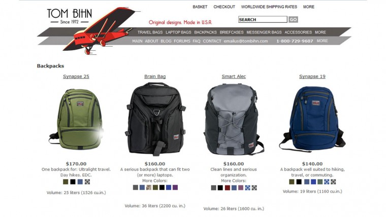 Tom Bihn Backpacks